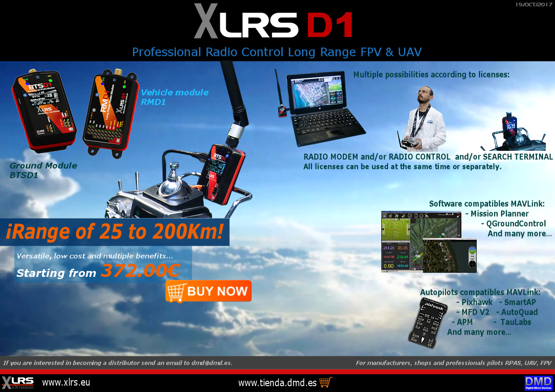 XLRS_D1   LONG RANGE RADIO CONTROL UP TO 200KM